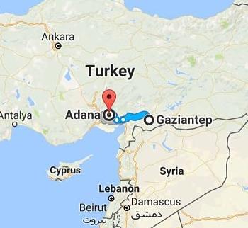 Adana to Gaziantep